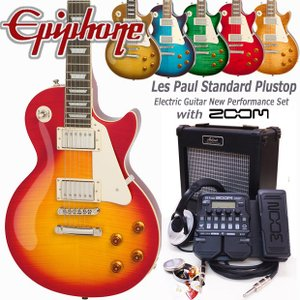 Epiphone エピフォン Les Paul Standard Plus-top Pro レスポール初心者セット 18点 ZOOM G1XFour付き|ebisound