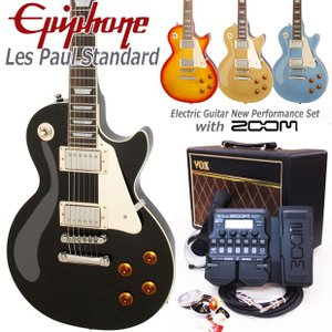 Epiphone エピフォン Les Paul Standard VOXアンプ付 レスポール初心者セット18点 ZOOM G1XFour付き|ebisound