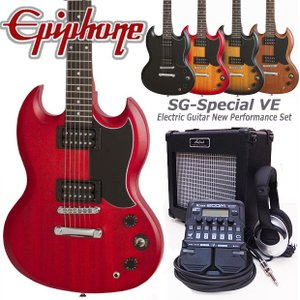 Epiphone エピフォン  SG-Special VE エレキギター 初心者セット18点 ZOOM G1Four付き|ebisound