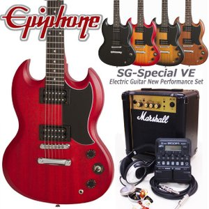 Epiphone エピフォン  SG-Special VE エレキギター 初心者セット18点 Marshallアンプ・ZOOM G1Four付き|ebisound