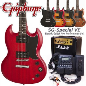 Epiphone エピフォン  SG-Special VE エレキギター 初心者セット18点 Marshallアンプ・ZOOM G1XFour付き|ebisound