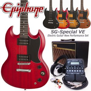 Epiphone エピフォン  SG-Special VE エレキギター 初心者セット18点 VOXアンプ・ZOOM G1Four付き|ebisound