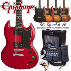 Epiphone エピフォン  SG-Special VE エレキギター 初心者セット18点 ZOOM G1XFour付き|ebisound