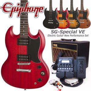 Epiphone エピフォン  SG-Special VE エレキギター 初心者セット18点 VOXアンプ・ZOOM G1XFour付き|ebisound