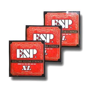 ESP エレキギター弦 GS-6XL 〔3セット〕 【ネコポス送料210円】 【代引きの場合送料¥450】 【旧速達メール便】|ebisound