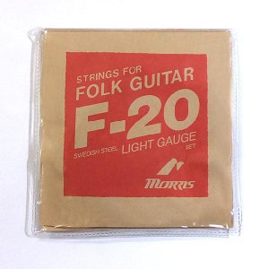 Morris モーリス アコースティックギター弦 F-20L ライトゲージ 〔3セット〕 【ネコポス(旧速達メール便)送料230円】|ebisound