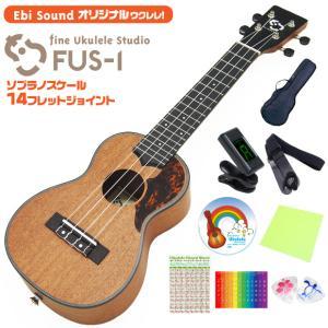 【弦高調整済で抜群の弾きやすさ】ウクレレ アリア EbiSound オリジナル  FUS-1 カスタ...