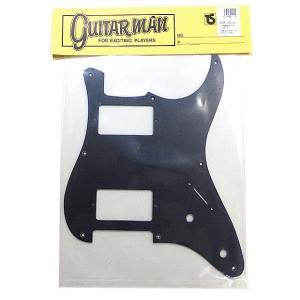 Guitarman ギターマンパーツ ピックガード ST 2H ブラック つや消し ストラトタイプ #1115|ebisound