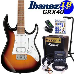 Ibanez アイバニーズ GRX40 TFB エレキギター マーシャルアンプ付 初心者セット18点 ZOOM G1Four付き|ebisound
