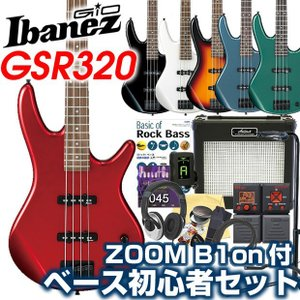 Ibanez アイバニーズ GSR320 ベース 初心者 入門 ZOOM B1Four付 16点セット エレキベース|ebisound
