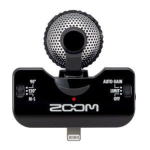 ZOOM iQ5 BLK ズーム iPod/iPhone/iPad Touch用 ステレオ コンデンサーマイク|ebisound
