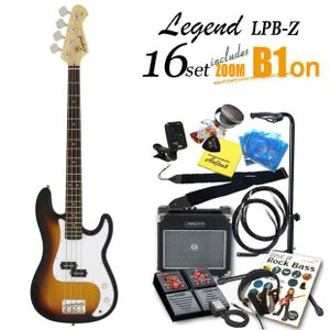 ベース 初心者 入門 Legend LPB-Z/3TS レジェンド ZOOM B1Four付 16点セット エレキベース プレシジョンベース|ebisound