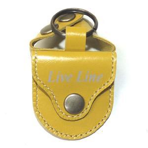 Live Line レザーピックケース LPC1200 YL イエロー 【ネコポス送料210円】 【代引きの場合送料¥580】 【旧速達メール便】|ebisound