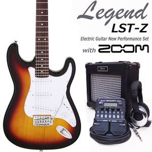エレキギター 初心者 セット ZOOM G1on付  LST-Z/3TS Legend エレキギター 入門 16点セット|ebisound