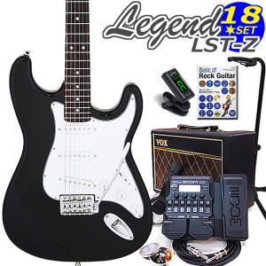 エレキギター 初心者 セット VOXアンプ ZOOM G1Xon付 LST-Z/BK Legend エレキギター 入門 16点セット|ebisound