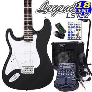 エレキギター 左利き 初心者セット ZOOM G1Four付  LST-Z/LH BK Legend エレキギター入門18点セット ebisound