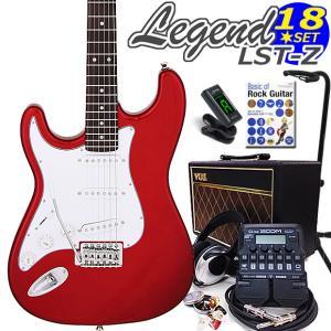 エレキギター 左利き 初心者セット  VOXアンプとZOOM G1Four付 LST-Z/LH CA Legend エレキギター入門18点セット ebisound
