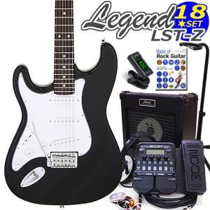 エレキギター 左利き 初心者セット ZOOM G1XFour付 LST-Z/LH BK Legend エレキギター入門18点セット ebisound