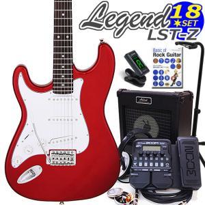 エレキギター 左利き 初心者セット ZOOM G1XFour付 LST-Z/LH CA Legend エレキギター入門18点セット ebisound
