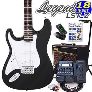 エレキギター 左利き 初心者セット  VOXアンプとG1XFour付 LST-Z/LH BK Legend エレキギター入門18点セット ebisound
