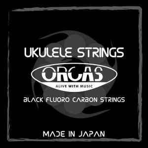 ORCAS オルカス ブラック フロロカーボン ソプラノ・コンサート用ウクレレ弦 セット OS-MED ミディアム【ネコポス(旧速達メール便)送料230円】|ebisound