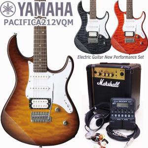 YAMAHA ヤマハ エレキギター PACIFICA212VQM Marshallアンプ ZOOM G1Four付き 初心者 入門 18点セット|ebisound