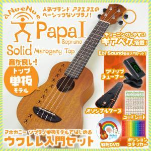 アヌエヌエ ウクレレ ソプラノ Papa1 入門セット SJ クリップチューナー 教則DVD付 aNueNue Papa S series aNN-PM1|ebisound