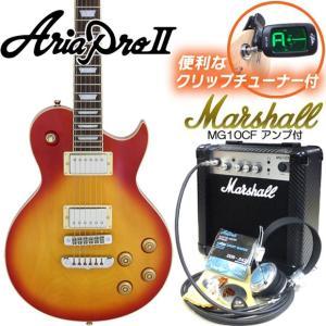 エレキギター 初心者セット 入門セット AriaProII PE-350 CS マーシャルアンプ付15点セット ebisound