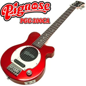 Pignose ピグノーズ PGG-200 CA アンプ内蔵ミニギター 専用ケース付属 キャンディアップルレッド 数量限定特価|ebisound