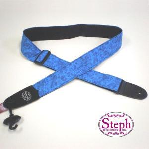 STEPH ステフ ストラップ PL-223 BL カラフル ファブリック シリーズ|ebisound