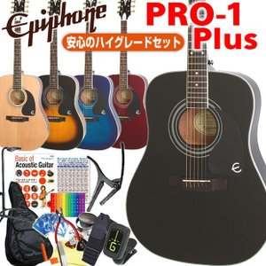 Epiphone エピフォン アコギ PRO-1 Plus アコースティックギター 初心者 ハイグレード 16点 セット|ebisound
