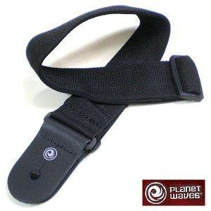Planet Waves ストラップ Leather End Black PWS100|ebisound