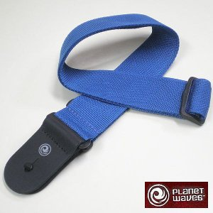 Planet Waves ストラップ Leather End Blue PWS102|ebisound