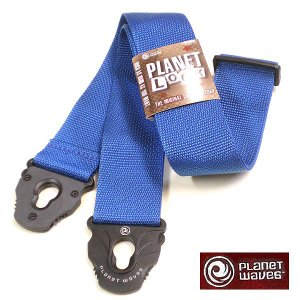 Planet Waves ストラップ Planet Lock Blue PWSPL202|ebisound