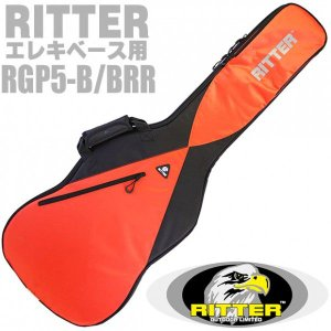 RITTER リッター ギグバッグ エレキベース用 ケース  RGP5-B BRR (Black/Racing Red) [98765]|ebisound