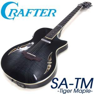 CRAFTER クラフター  SA-TM  BK (Black Sunburst) ブラック ソリッド エレアコ セミアコ|ebisound
