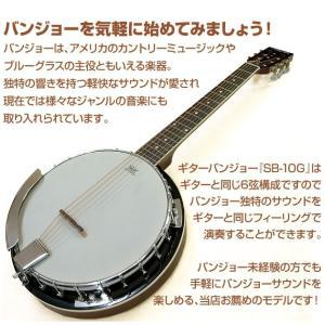 バンジョー ARIA SB-10G ギターバンジョー 8点セット|ebisound|02