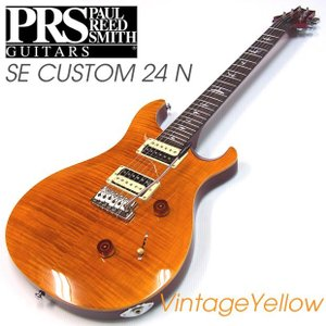 【マイクロヘッドチューナー付!】P.R.S. ポールリードスミス SE Custom 24 VY VINTAGE YELLOW Paul Reed Smith エレキギター ebisound
