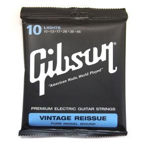 GIBSON ギブソン SEG-VR10 エレキギター弦 Vintage Reissue 【ネコポス送料210円】 【代引きの場合送料¥450】 【旧速達メール便】|ebisound