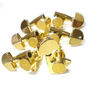 ゴトー ペグ GOTOH SG301 20 GG L3 R3 ゴールド  G/GR グローバータイプボタン 両側 6個セット|ebisound
