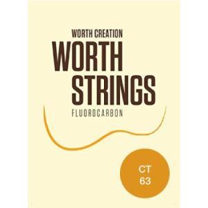ワースストリングス Worth Strings フロロカーボン ウクレレ弦セット クリア テナー用 CT【ネコポス(旧速達メール便)送料230円】|ebisound