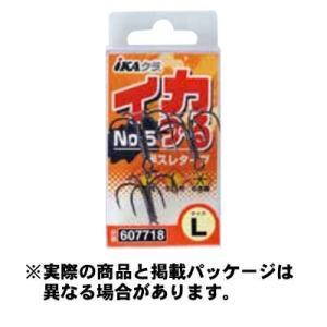 カツイチ IKAクラ イカつ〜るNo.5 IS-55 L 3個入 黒  【仕掛け】