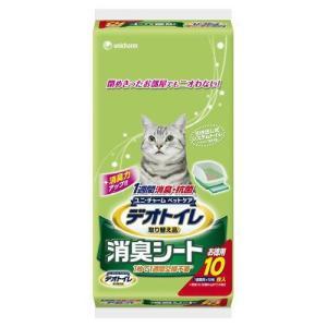 ユニ・チャーム 1週間消臭・抗菌デオトイレ 消臭シート [10枚]|ebisupet