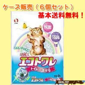 【ケース販売】ペットライン お花畑 エコトワレ 8L×6個|ebisupet