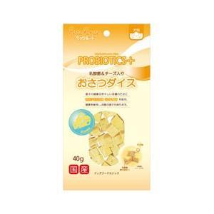 ペッツルート 犬用おやつ おさつダイス 乳酸菌&チーズ入り 40g|ebisupet