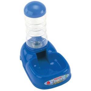 ペティオ PETIO ディッシュ 給水器付き ブルー ebisupet