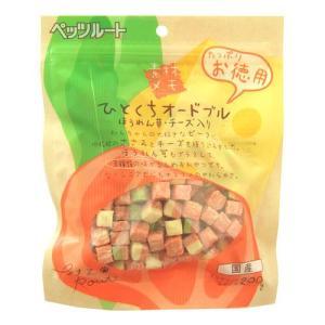 ペッツルート 素材メモ ひとくちオードブル ほうれん草 お徳用 200g|ebisupet