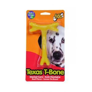 fido テキサスTボーン ビーフの香り Mサイズ(愛犬用デンタルおもちゃ)【パッケージに凹み、汚れ有り】【返品不可】 ebisupet