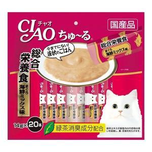 【送料無料、メール便・定形外郵便、同梱不可】チャオ CIAO 猫用 ちゅ〜る 総合栄養食 まぐろ 海鮮ミックス味 SC-199(14g×20本) ebisupet