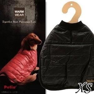 【送料無料】ペティオ 重ね着もできるウォームウェア XS ブラック|ebisupet